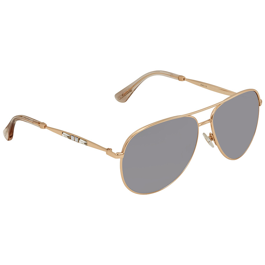 2aa18c063322 Jimmy Choo Grey-Silver Aviator Sunglasses JEWLY S 58FU 58 - Jimmy ...