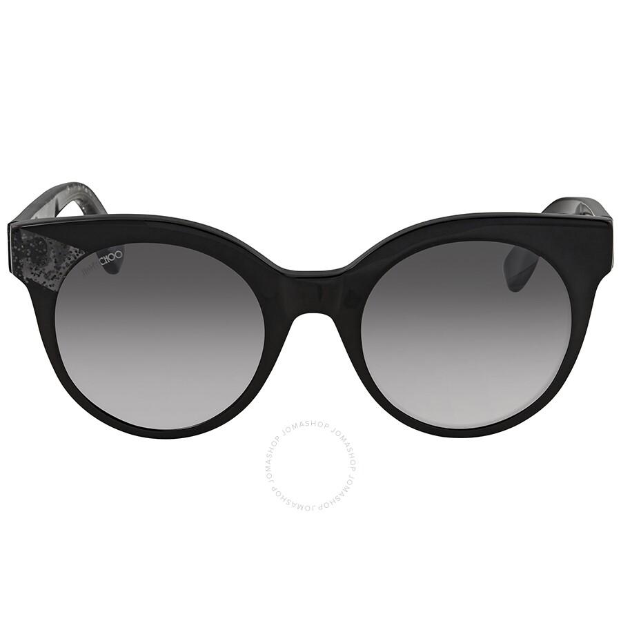 67f2d42610d ... Jimmy Choo Gray Mirror Shaded Silver Cat Eye Sunglasses MIRTA S 49IC 49  ...