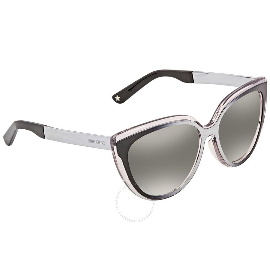 ff75701d55 Jimmy Choo Grey Cat Eye Sunglasses CINDY S 01M0 57 - Jimmy Choo ...