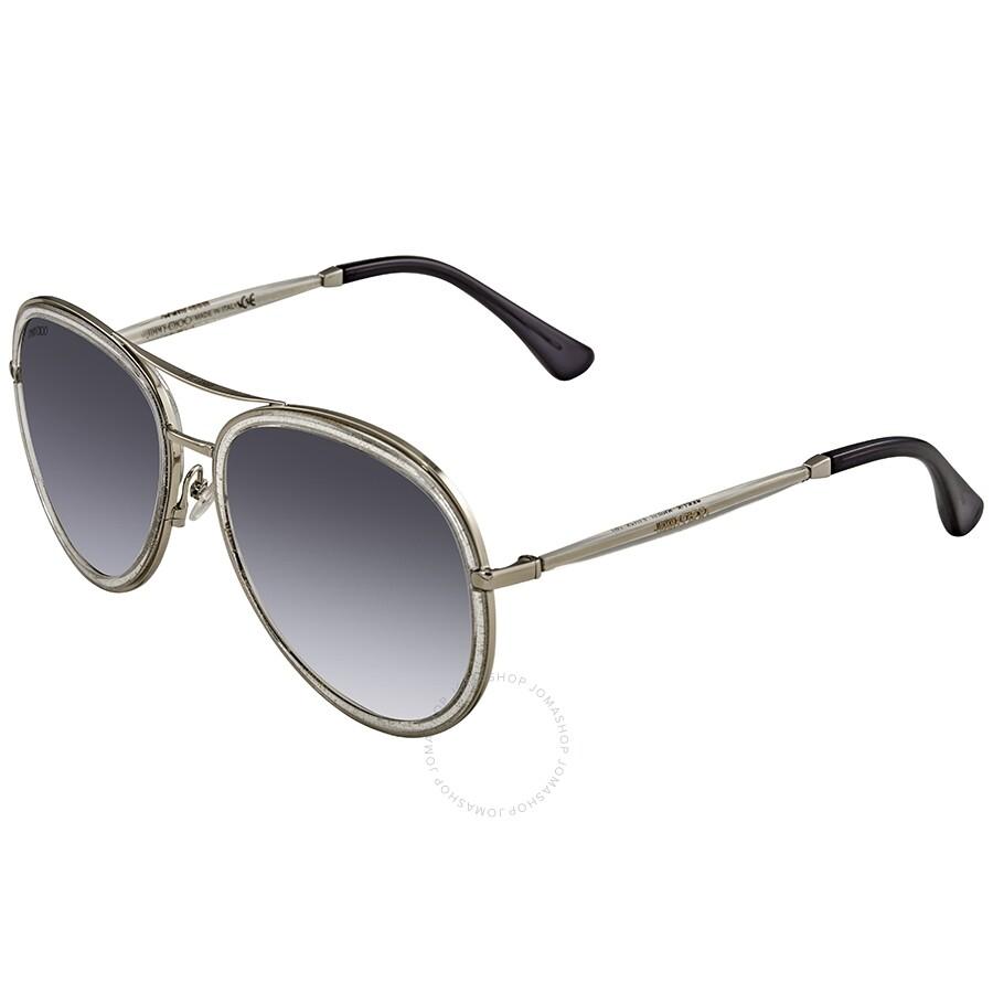 2082e39bef Jimmy Choo Grey Gradient Aviator Sunglasses TORA S 0QC3 Item No. TORA S  0QC3 57