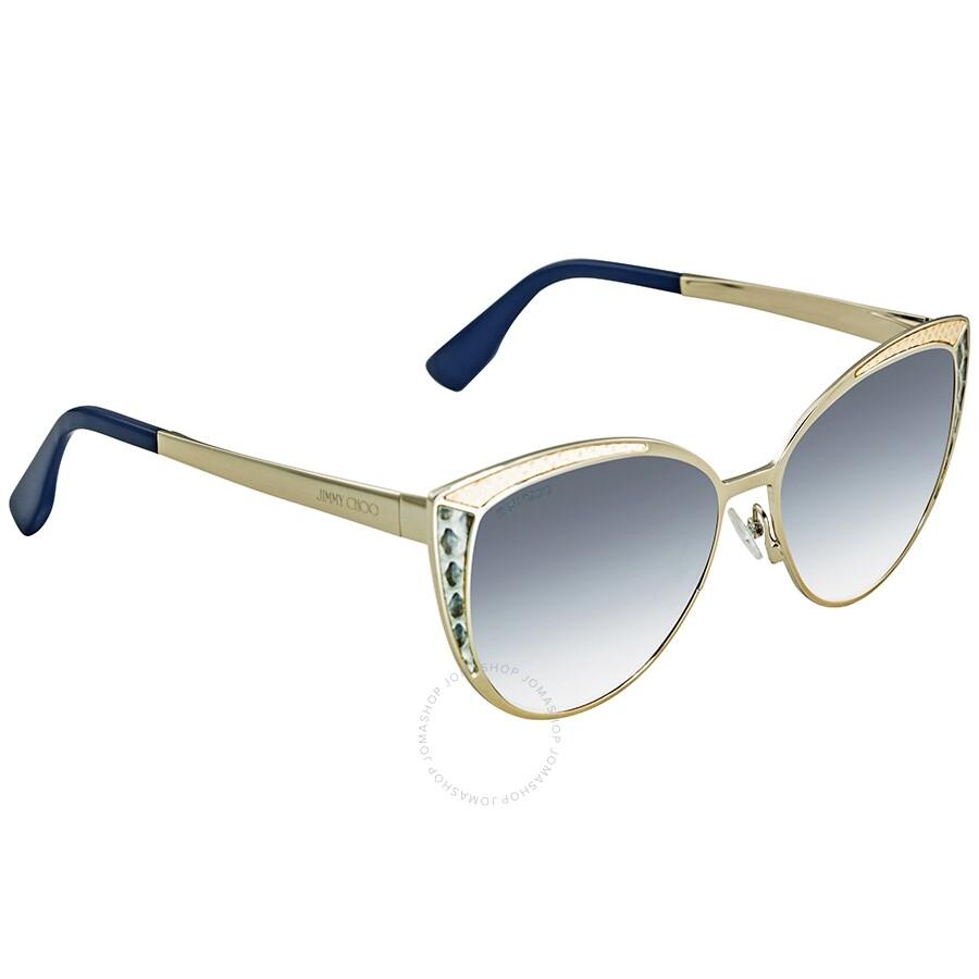 805640df5823 Jimmy Choo Grey Gradient Cat Eye Sunglasses DOMI S 0PTF 56 - Jimmy ...