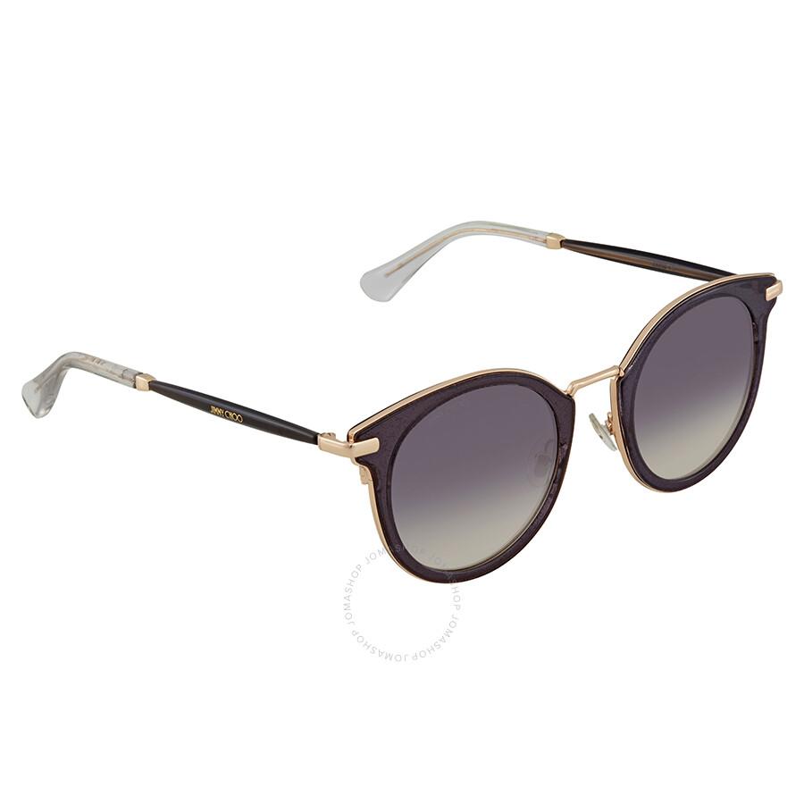 d29a8f959671 Jimmy Choo Grey Gradient Round Sunglasses RAFFY S 479C 47 - Jimmy ...