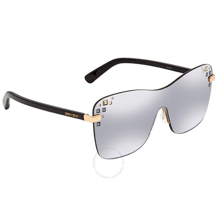 c0bb3d0b7d6 Jimmy Choo Grey Mirror Rectangular Ladies Sunglasses MASK S 99U4 99 ...