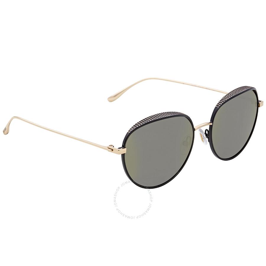 39b145462748 Jimmy Choo Grey-Silver Gradient Round Sunglasses ELLO S 56HJ 56 ...
