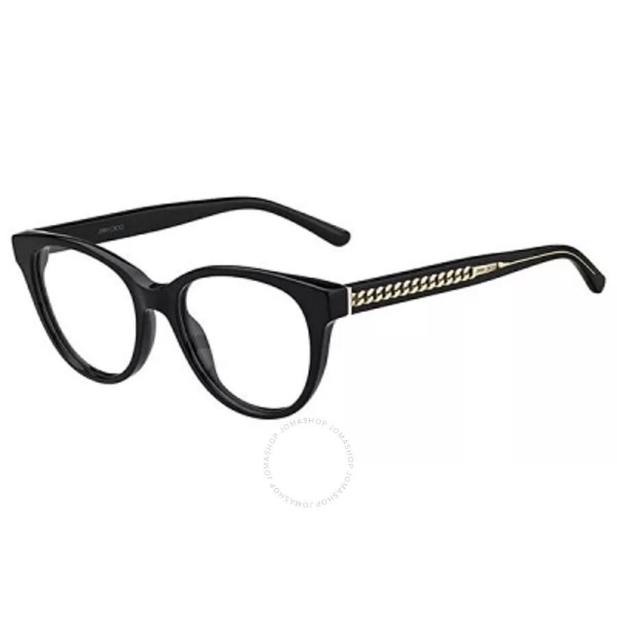 Jimmy Choo 250 Eyeglasses, Gold Glitter Gray Rectangular