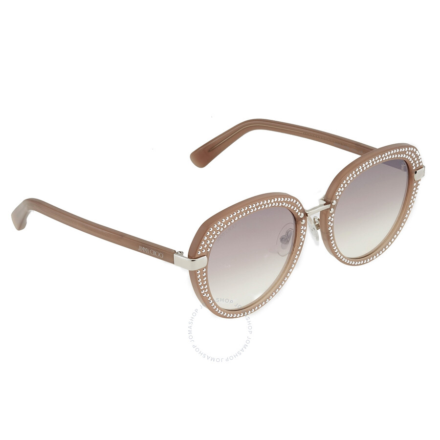 Jimmy Choo Brown Gradient Mirror Round Sunglasses Mori/S