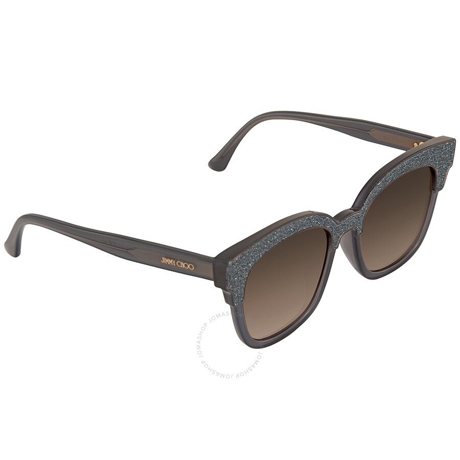 0657afcbf465ce Jimmy Choo Mayela Brown Gradient Wayfarer Ladies Sunglasses MAYELA S 50VF  50 ...