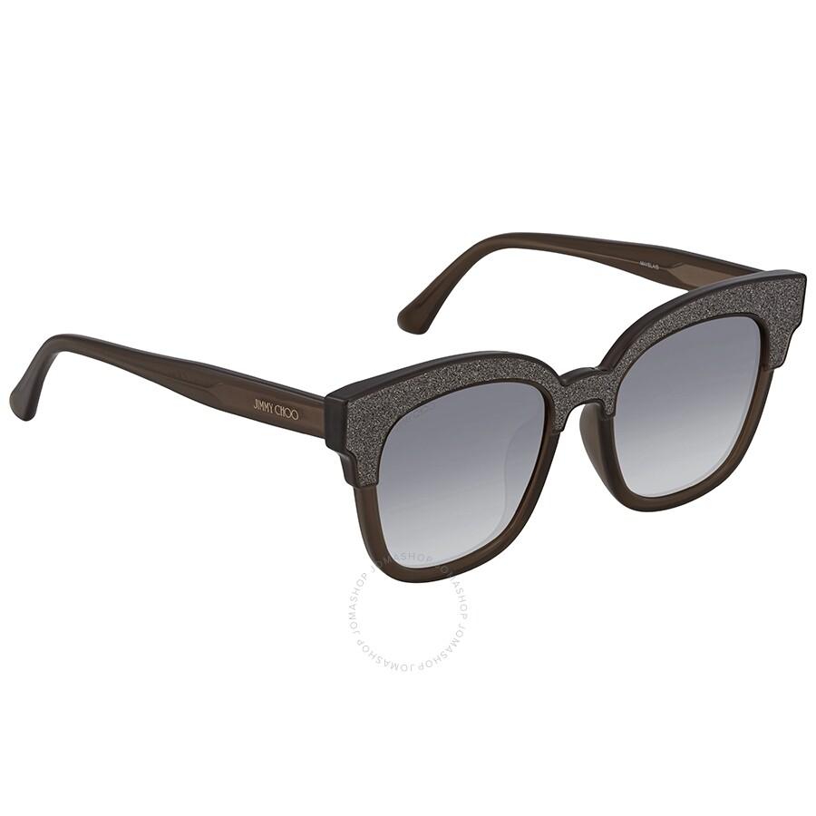 efa6ba8963f0 Jimmy Choo Mayela Gray Gradient Wayfarer Ladies Sunglasses MAYELA S 50VR 50  ...
