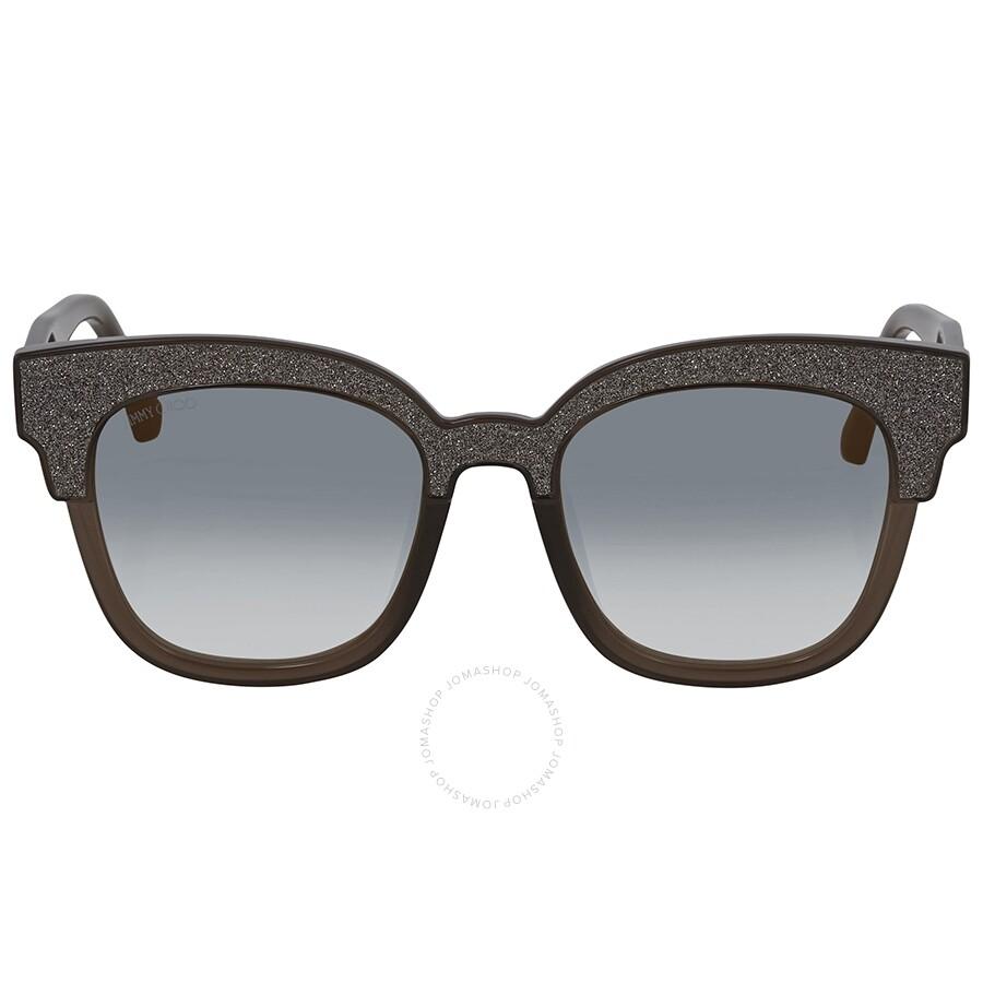 ce8bb137a3db ... Jimmy Choo Mayela Gray Gradient Wayfarer Ladies Sunglasses MAYELA S  50VR 50 ...