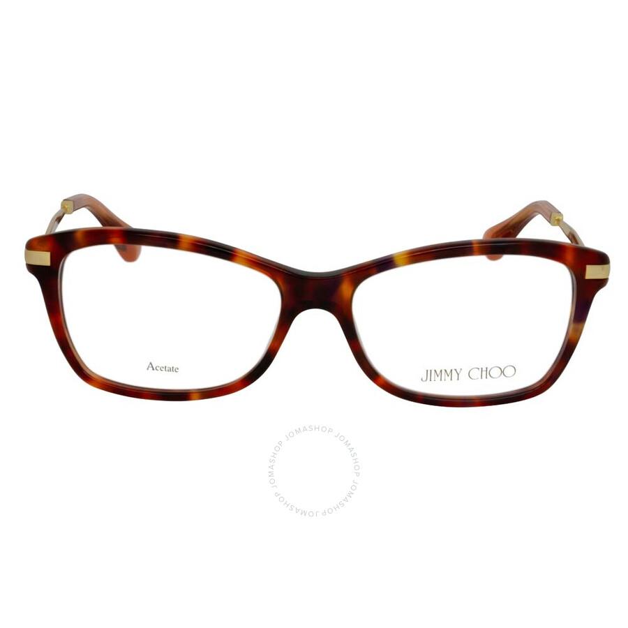03c73a712618 Jimmy Choo Red Havana Orange Glitter Eyeglasses 96 7VJ 52 - Jimmy ...