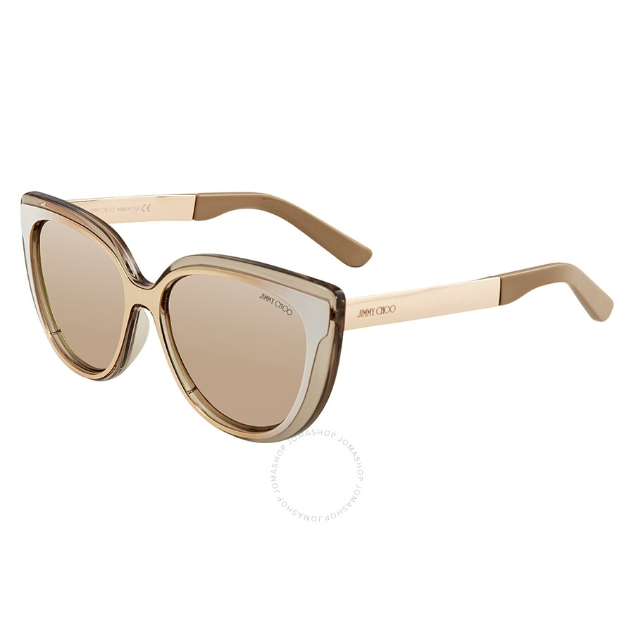 8360de5295 Jimmy Choo Rose Gold Cat Eye Sunglasses CINDY S 01RX 57 - Jimmy Choo ...