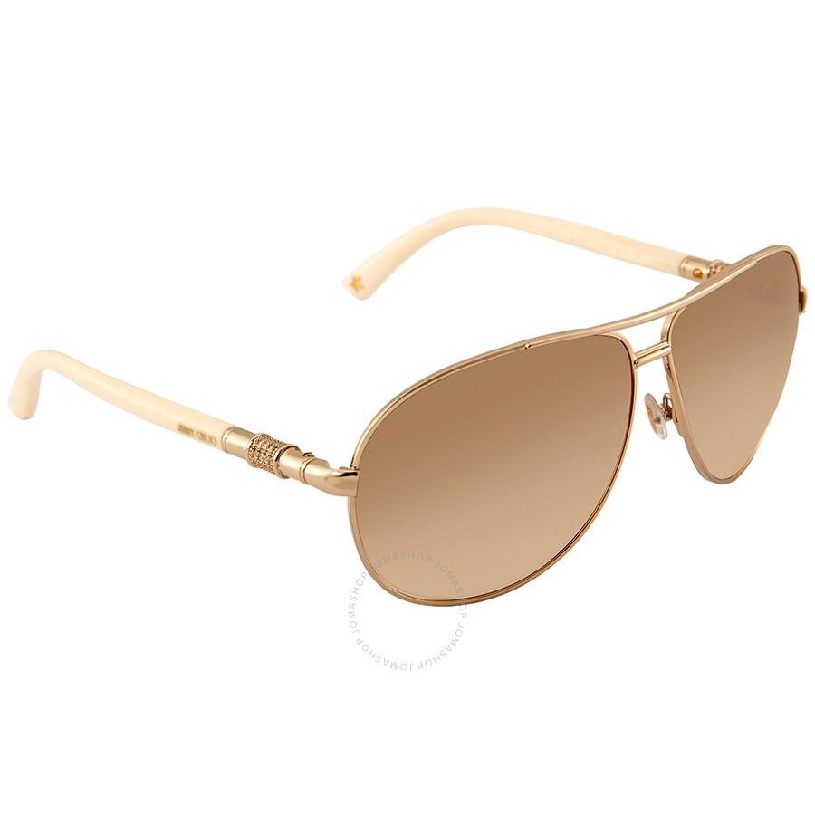 767b0fc35d Jimmy Choo Walde Brown Gradient Aviator Ladies Sunglasses WALDE S 03X6 63  ...