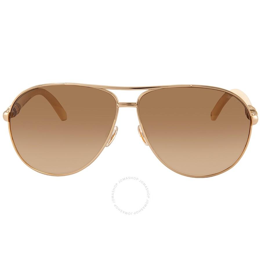 640e8d0864 ... Jimmy Choo Walde Brown Gradient Aviator Ladies Sunglasses WALDE S 03X6  63 ...