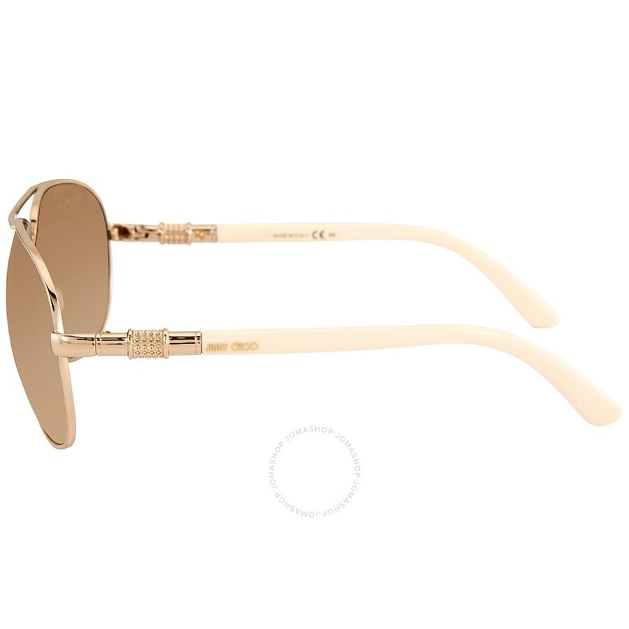 3674890332 ... Jimmy Choo Walde Brown Gradient Aviator Ladies Sunglasses WALDE S 03X6  63