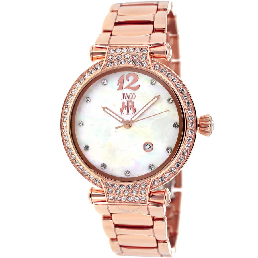 Bijoux Mother of Pearl Dial Ladies Watch JV2218