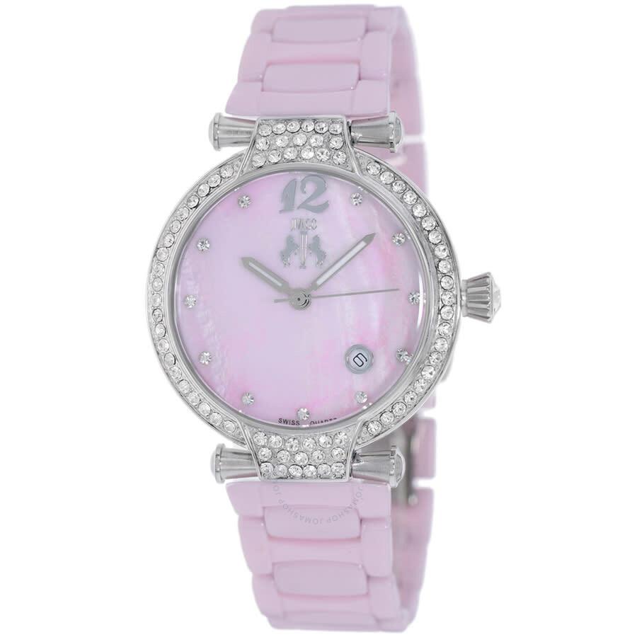 Bijoux Pink Mother of Pearl Dial Ladies Watch JV2213