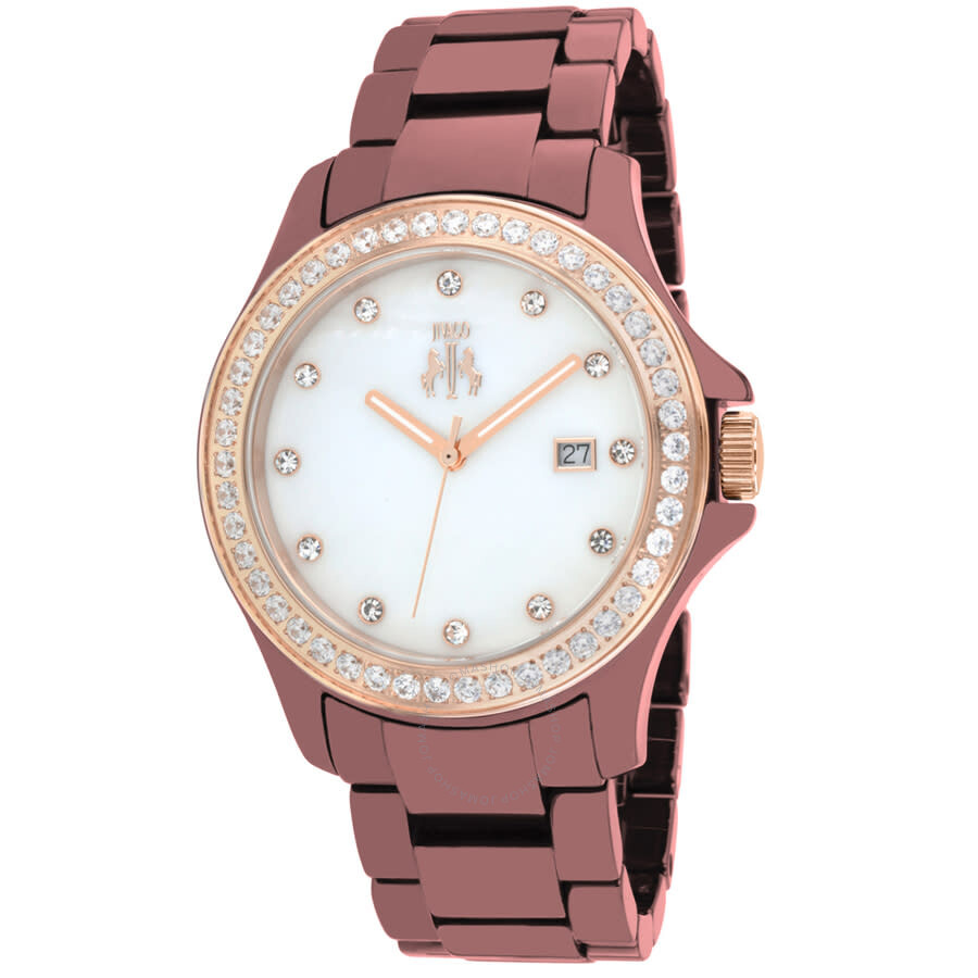 Ceramic White Mother of Pearl Dial Ladies Watch JV9415