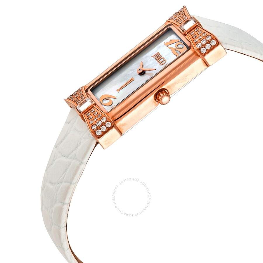 Charmante White Mother of Pearl Dial Ladies Watch JV1412