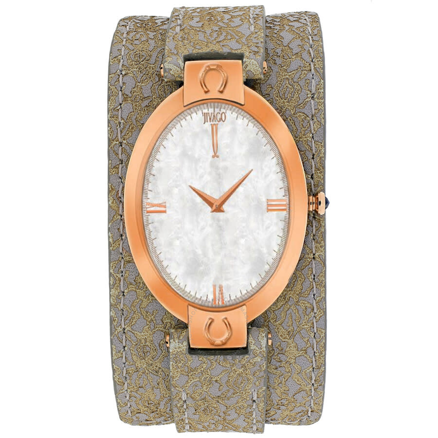 Good Luck White Mother of Pearl Dial Ladies Watch JV1832