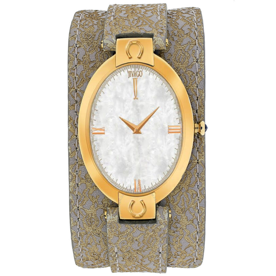 Good Luck White Mother of Pearl Dial Ladies Watch JV1836