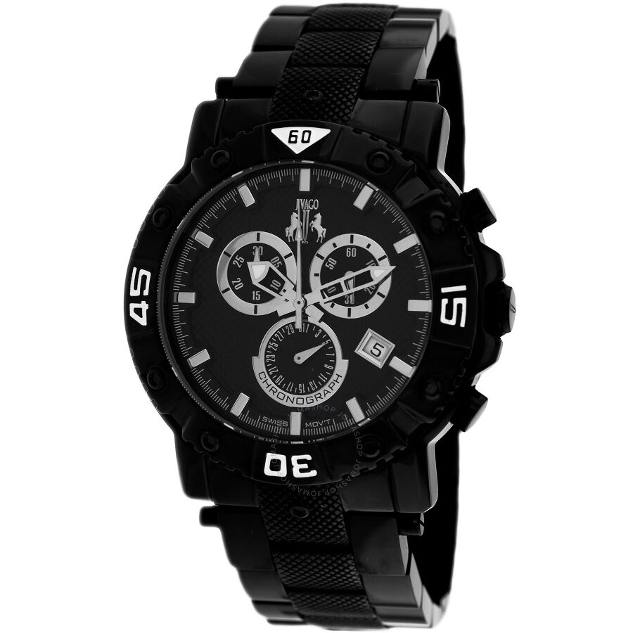 6d963df7baa Jivago Titan Black Dial Men s Chronograph Watch JV9121 - Jivago ...