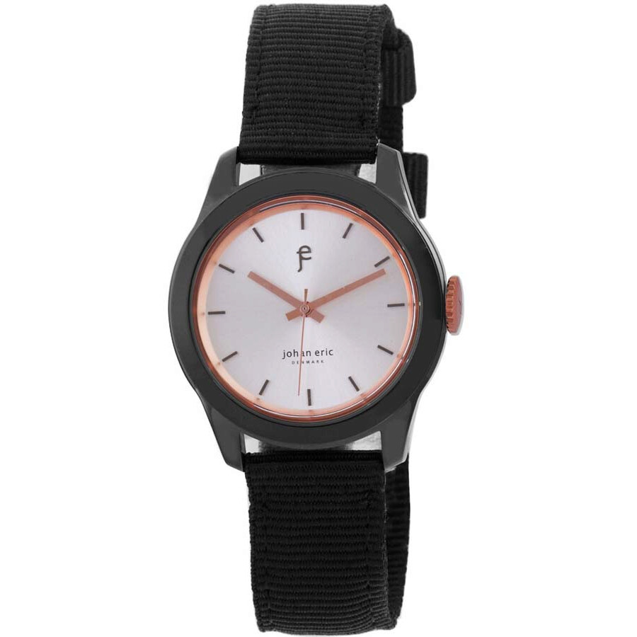 Johan Eric Naestved Young Sporty Round Black IP Steel Canvas Strap Men's Watch JE1400-13-001.16 ...
