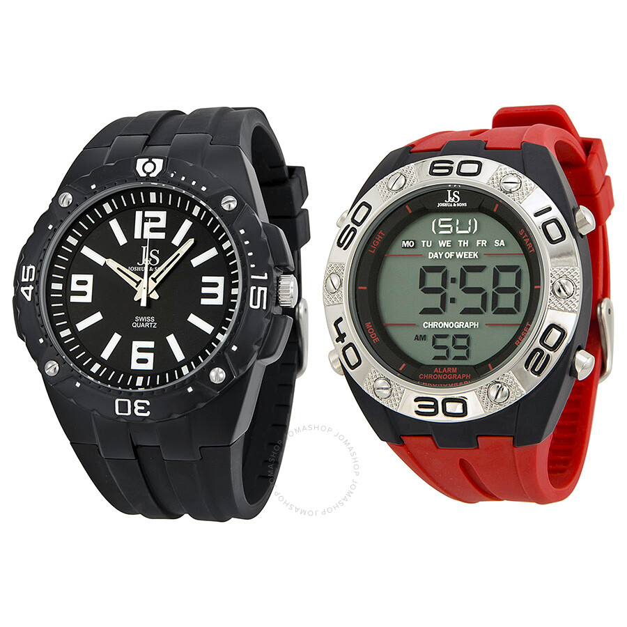 Joshua and sons analog and digital watch set js 74 2 joshua and sons watches jomashop for Watches digital