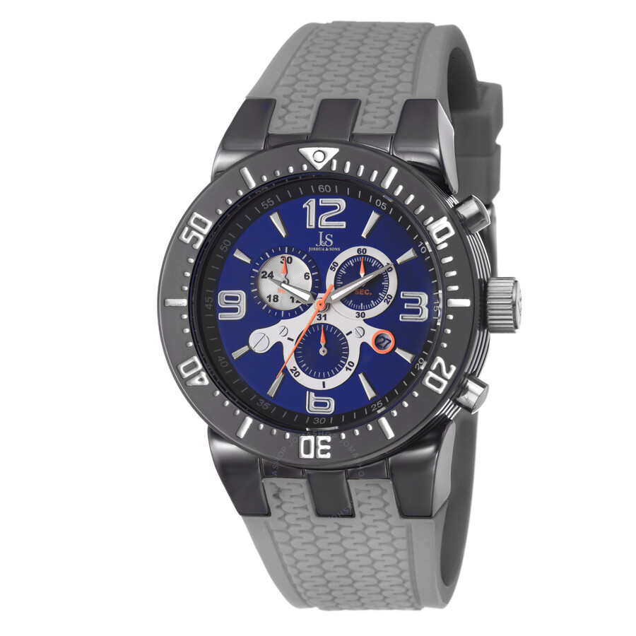 joshua and sons chronograph grey and blue sport