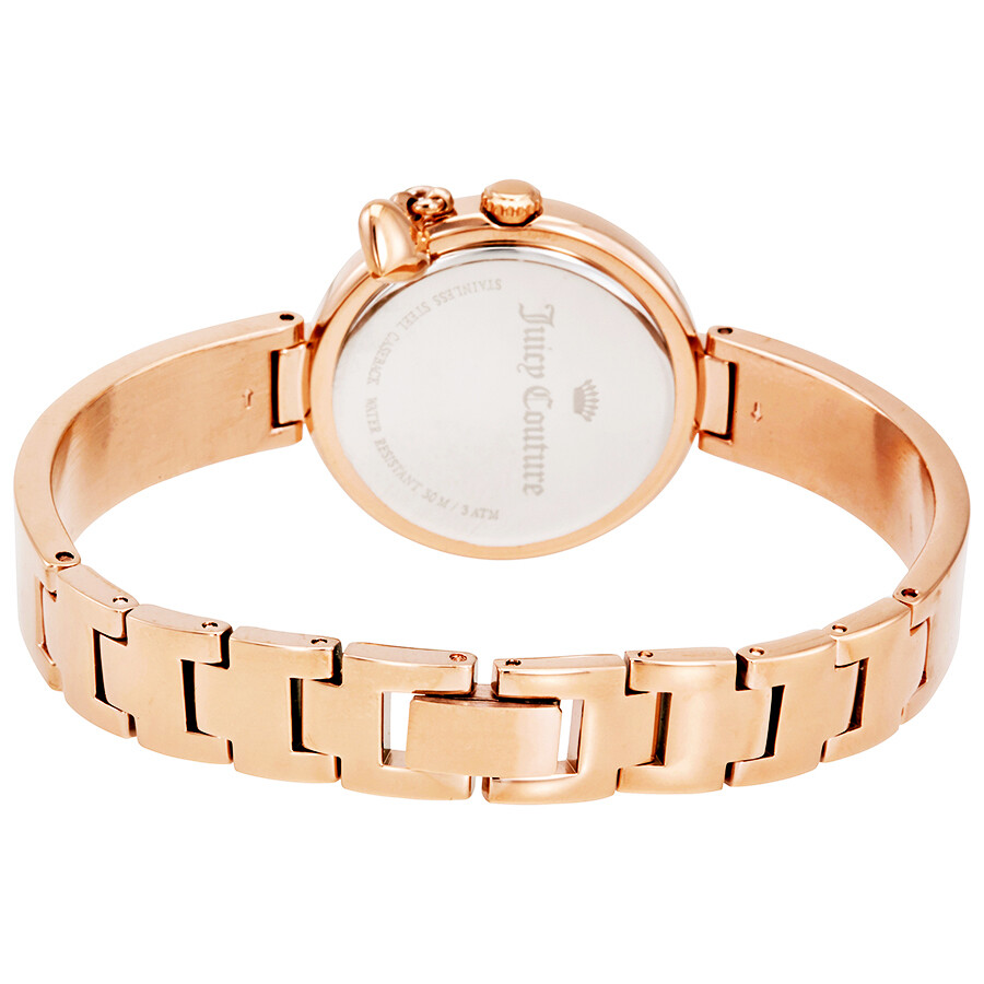 Juicy Couture Sienna Silver Dial Ladies Rose Gold Tone Watch 1901496