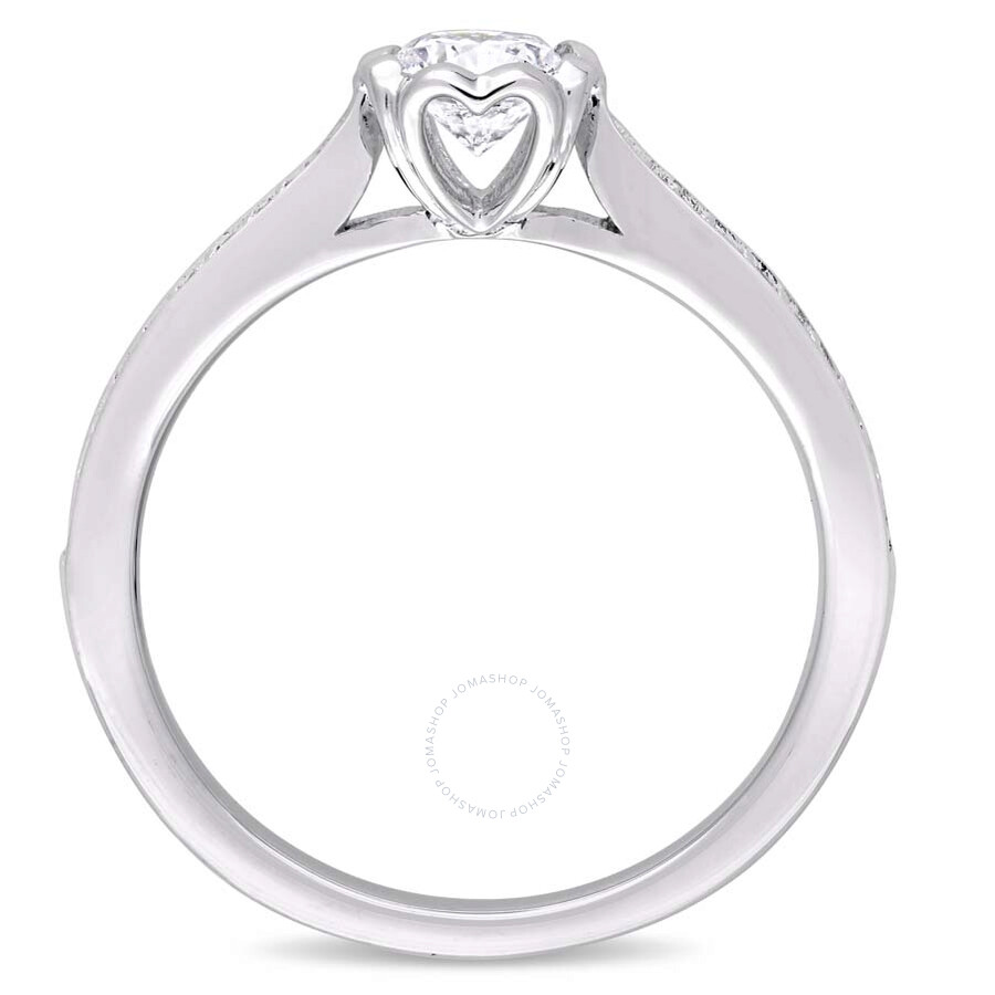 Julianna B 14K White Gold Round 5 8 CT Diamond Engagement Ring Size 5 Jul