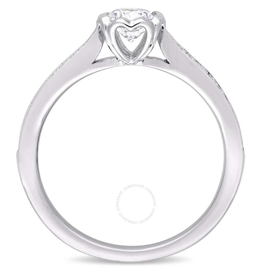 Julianna B 14K White Gold Round 5 8 CT Diamond Engagement Ring Size 8 Jul