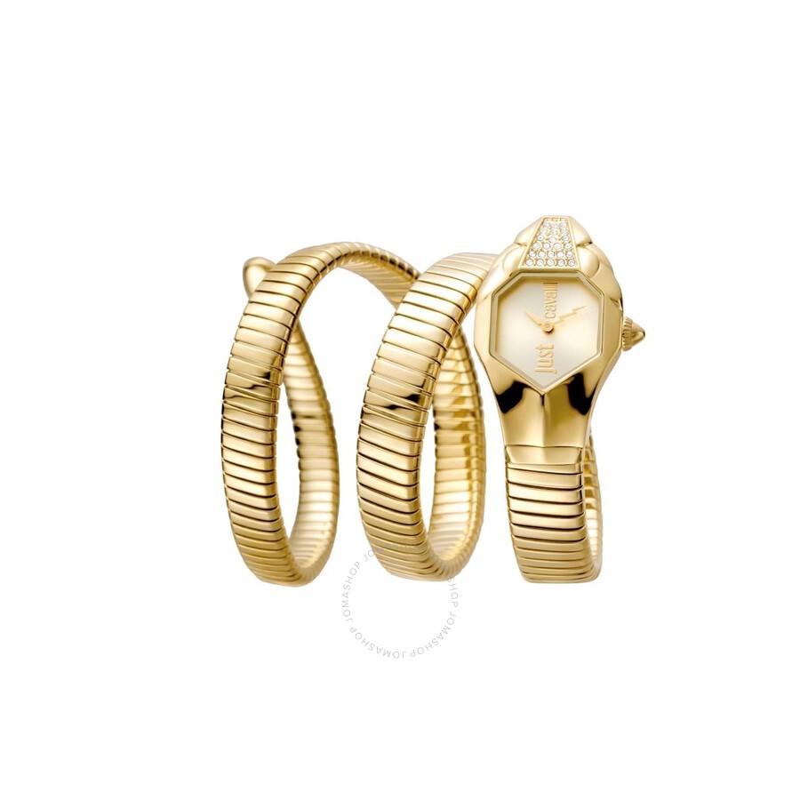 9247098edb Just Cavalli Glam Chic Gold Dial Ladies Watch JC1L022M0025 - Just ...