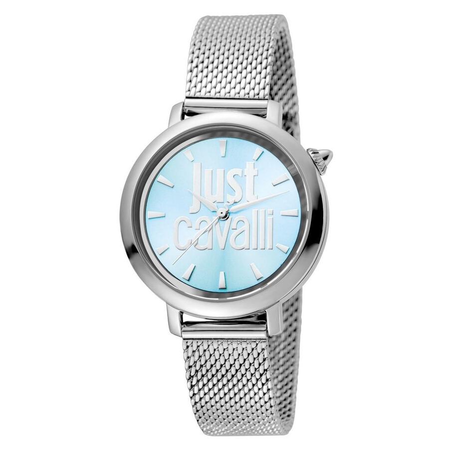 0fcc3d758fe2 Just Cavalli Logo Ice Blue Dial Ladies Watch JC1L007M0055 - Just ...