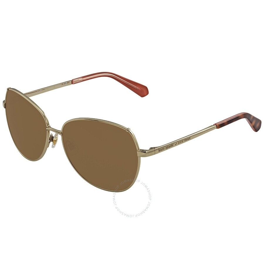 d98520d76b90 Kate Spade Candida Brown Round Ladies Sunglasses CANDIDAPS 03YG 58 Item No.  CANDIDAPS 03YG 58