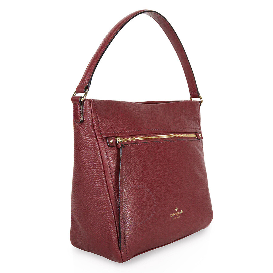 Kate Spade Cobble Hill Teagan Leather Hobo Bag - Merlot ...