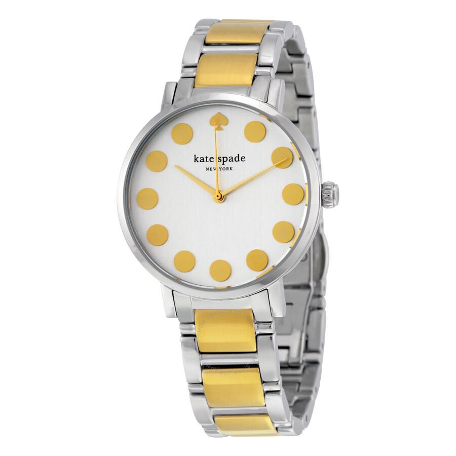 Kate Spade Gramercy White Dial Two Tone Bracelet Las Watch 1yru0738