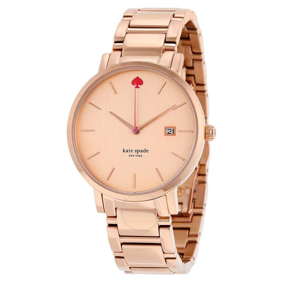 Kate Spade Gramercy Grand Rose Dial Las Watch 1yru0641