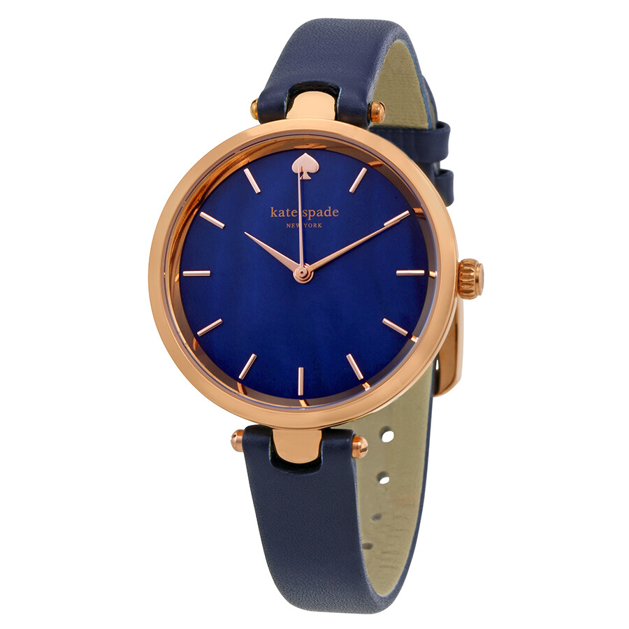 bf37d68b1f2 Kate Spade Holland Blue Mother of Pearl Dial Ladies Watch KSW1157 ...