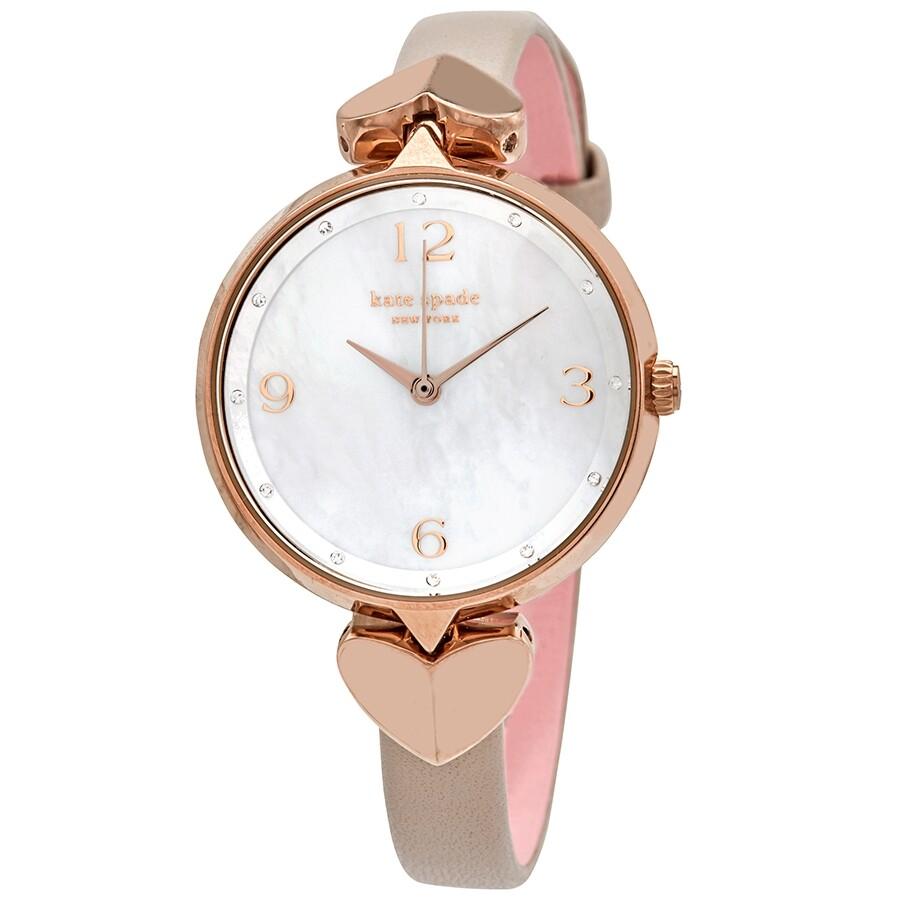 Kate Spade Hollis Quartz Crystal Mother Of Pearl Dial Ladies Watch Ksw1548 Ksw1548 Watches Kate Spade Jomashop