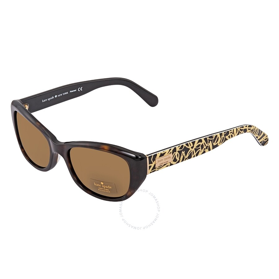 ae27465374 Kate Spade Keara Brown Rectangular Ladies Sunglasses KEARAPS 086P Item No.  KEARAPS 086P 51