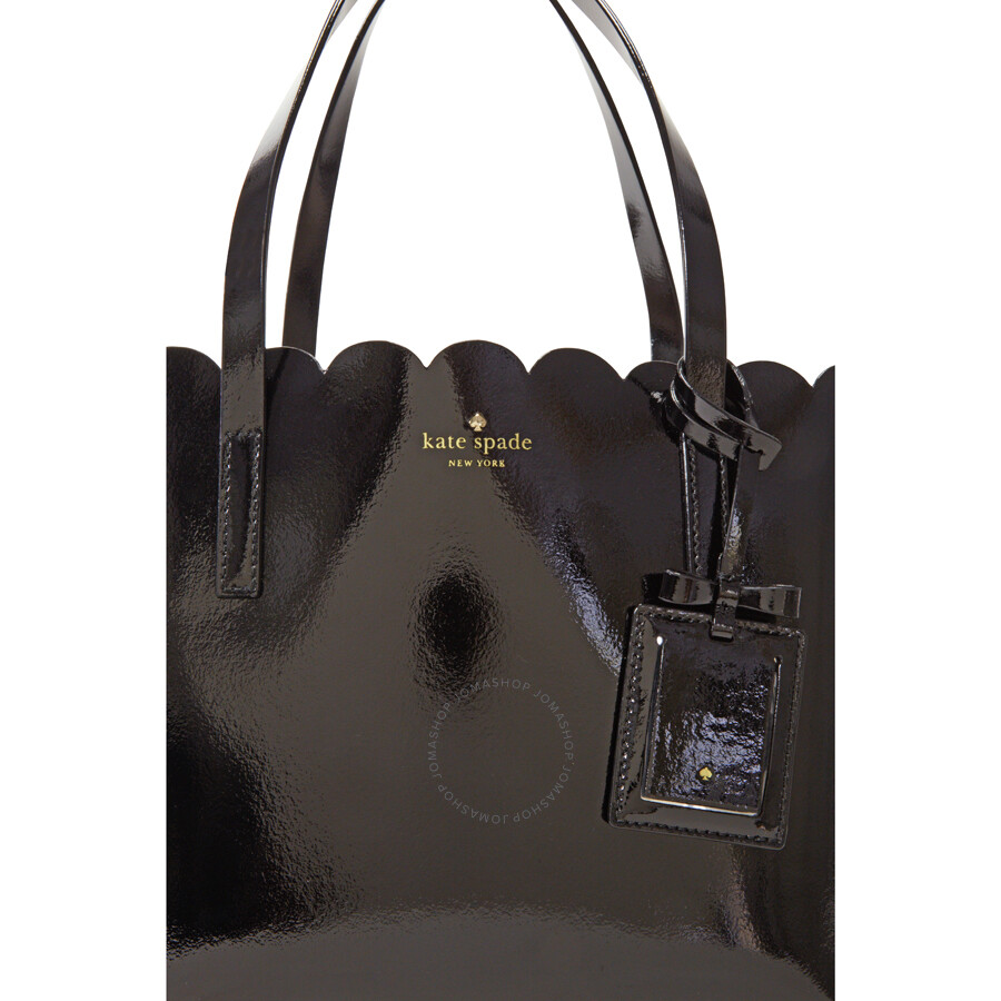 Kate Spade Lily Avenue Patent Leather Small Carrigan Tote Black