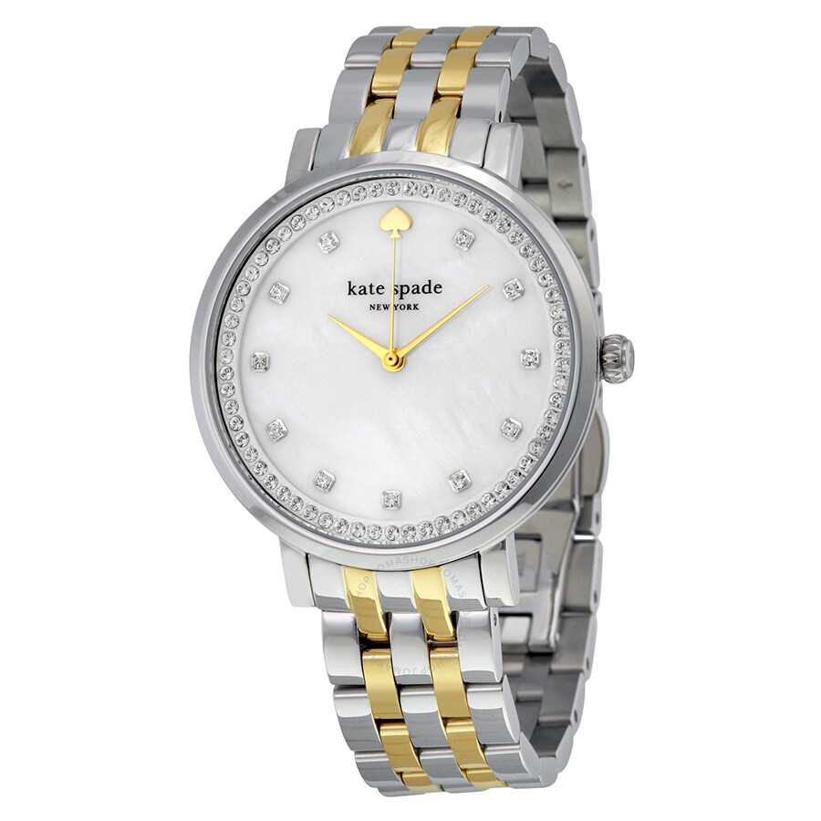 Kate spade monterey mother of pearl dial ladies watch 1yru0823 kate spade watches jomashop for Pearl watches