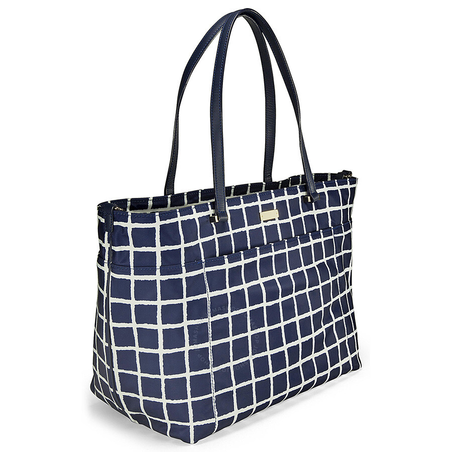 1cf274f3bb12 Kate Spade Seaside Nylon Francis Baby / Diaper Bag - French Navy/Cream