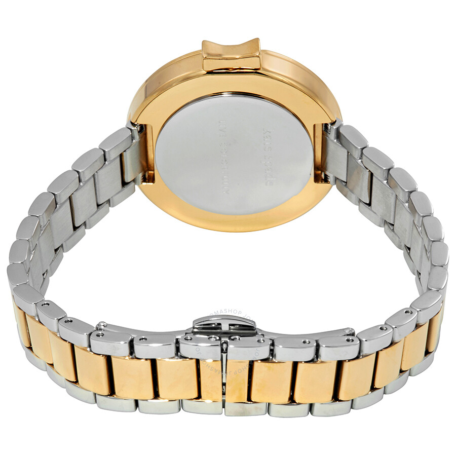 e11027000 ... Kate Spade Park Row Mother of Pearl Dial Ladies Two Tone Watch KSW1338