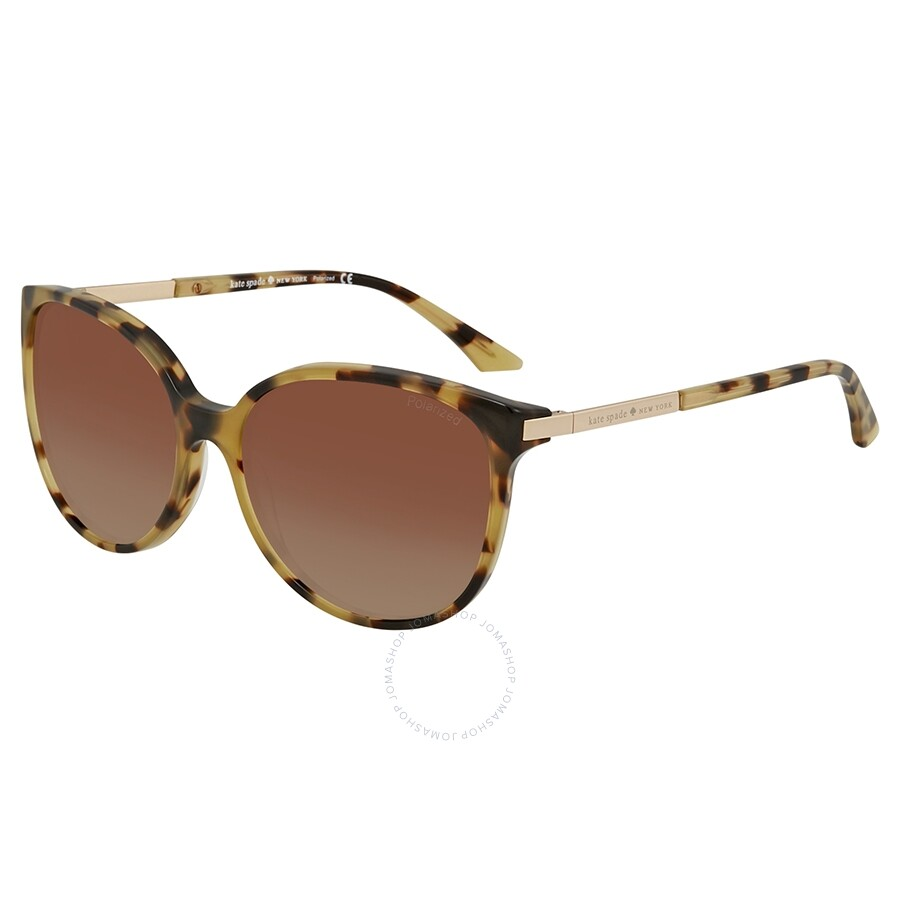 f26db509b2 Kate Spade Shawna Brown Gradient Cat Eye Ladies Sunglasses SHAWNAPS ESPP 56  ...