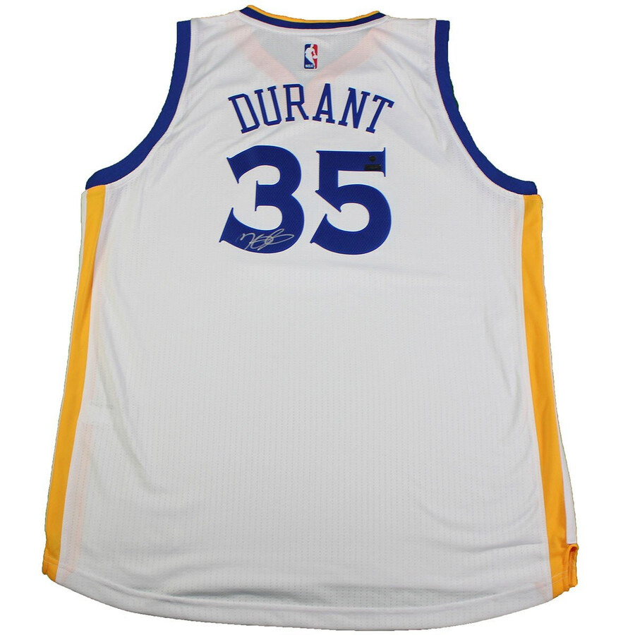 official photos 1a67b a4bec Kevin Durant Signed Golden State Warriors White Swingman Jersey