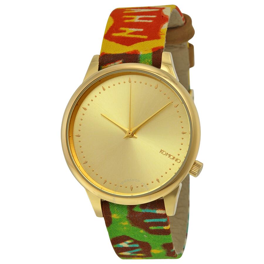 Komono estelle vlisco gold dial ladies watch w2851 komono watches jomashop for Gold dial ladies watch