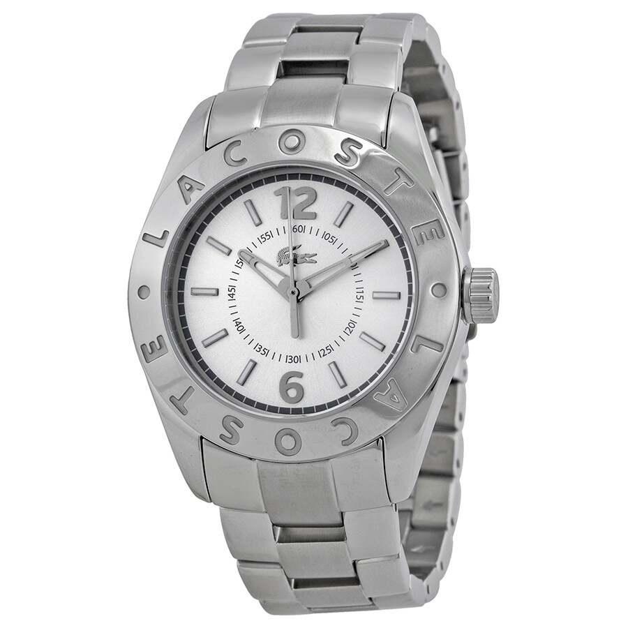 42e2e4ba23f Lacoste Biarritz Silver Dial Stainless Steel Ladies Watch 2000712 ...