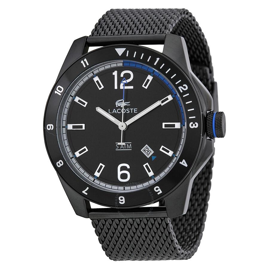 3d300455c89 Lacoste Durban Black Dial Black Ion-plated Mesh Men s Watch Item No. 2010735