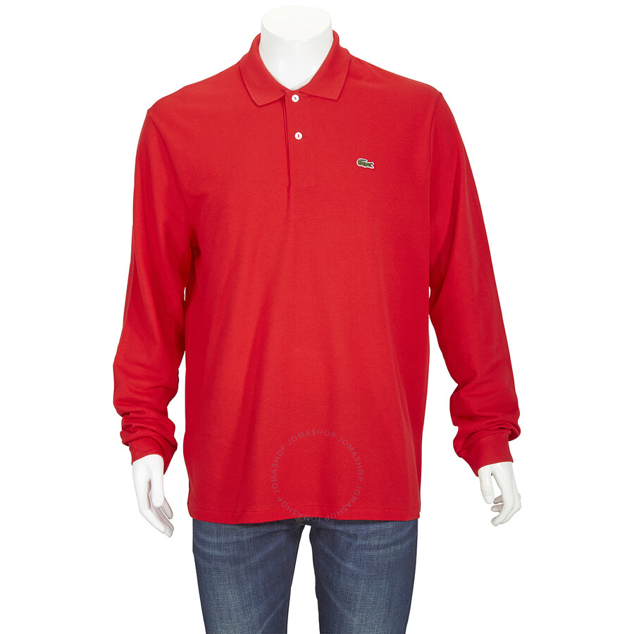 Lacoste Men's Red Long-sleeve Classic Fit Polo Shirt, Brand Size 7